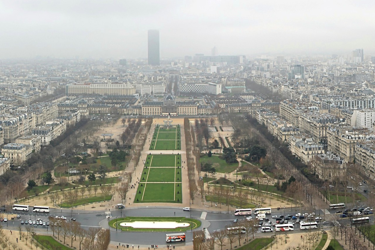 Paris view from Eiffel tower